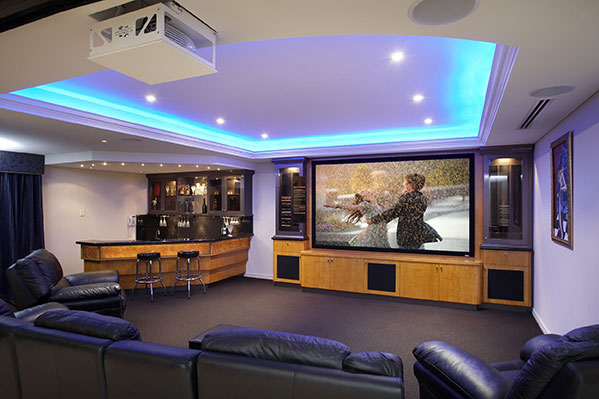 Home Theatre System with Motorised Projector Lift