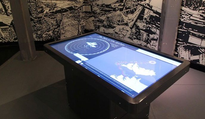 Education touch screen interactive display