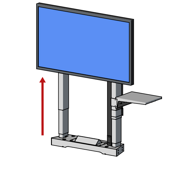 Education TV Mount motorised lift