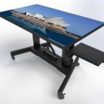 Education Trolley Touchscreen TV motorised with tilt