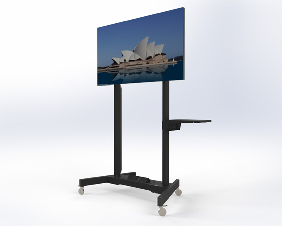 Education Trolley Touchscreen TV motorised lift