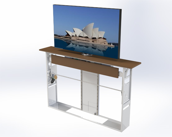 Motorised TV Cabinet Lift with Swivel