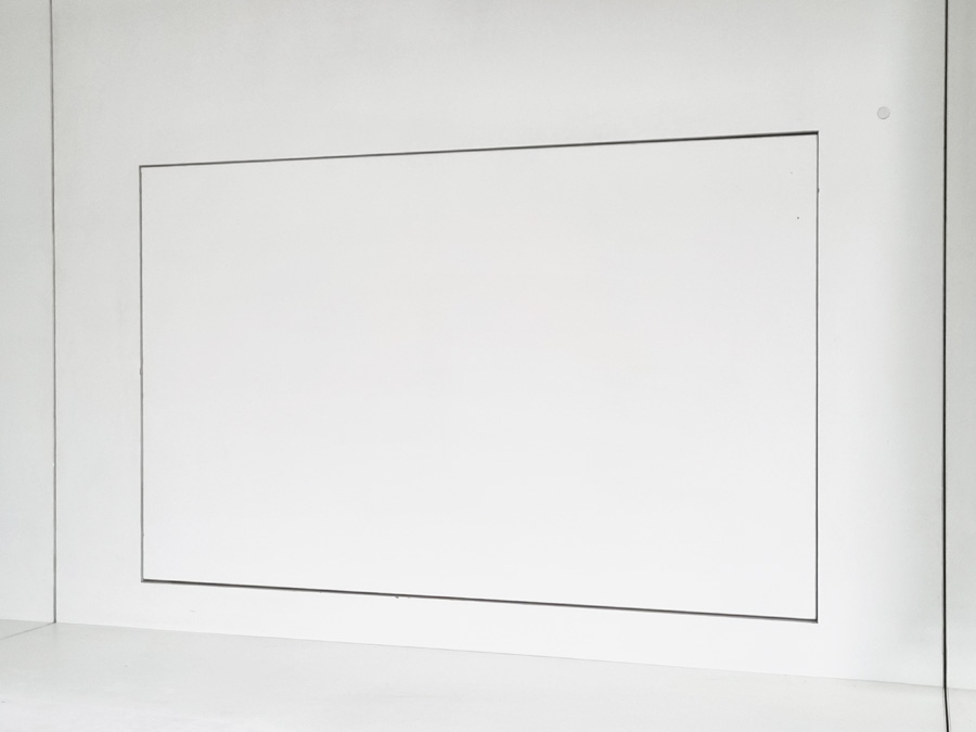 Motorised panel lift revealing TV