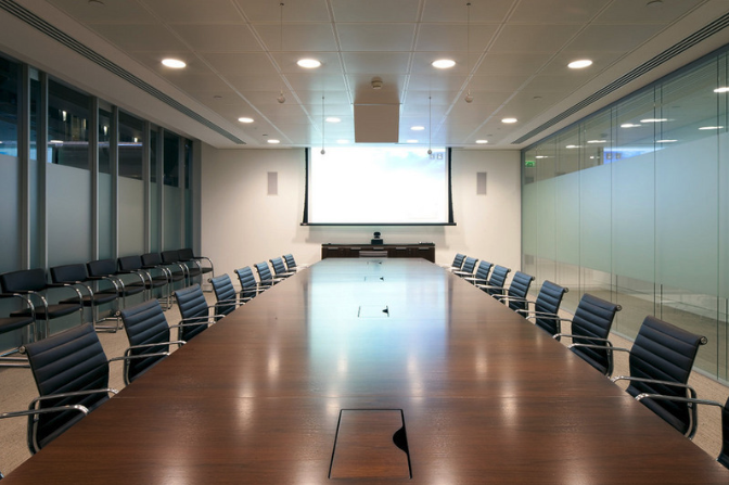 Conference room motorised monitor lift
