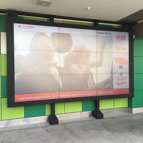 University Custom TV video wall