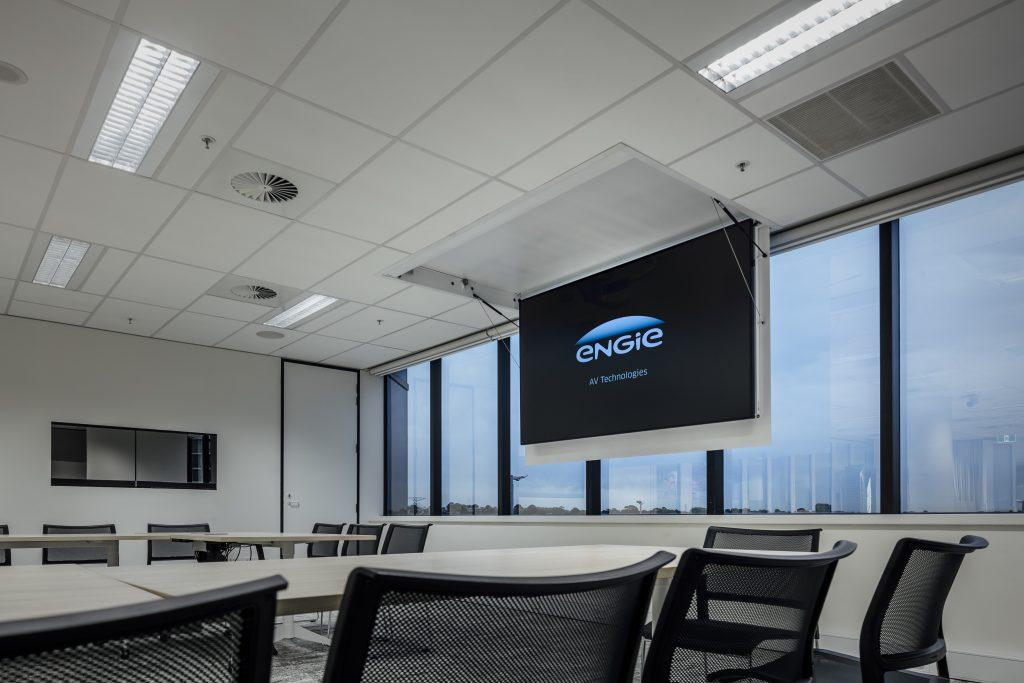 TV Lift installed in boardroom