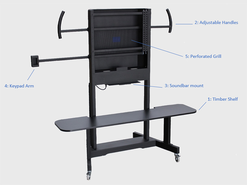 Mobile TV Stand for University